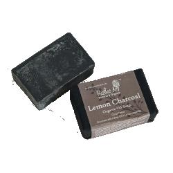 Rustic Art Organic Lemon Charcoal Soap with Hemp